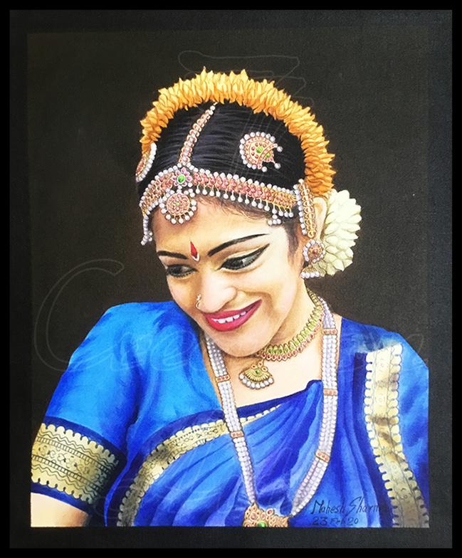 Portrait of a Classical Indian Dancer