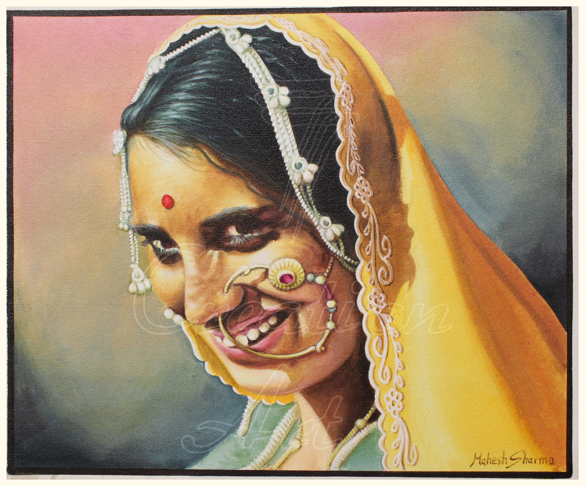 Rajasthani Woman in Traditional Dress